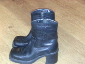 Harley Davidson leather boots size 8 1/2 $25 OBO