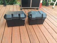 2 group 27 rv battery boxes