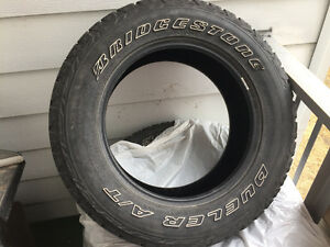 SET OF BRIDGESTONE DUELER A/T REVO 2 TIRES
