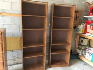 Two Bookcases - $15.00 each