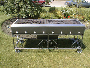 6ft x 2ft Commercial BBQ [USED]