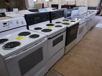 Very large selection of stoves all with 90 day warranty.