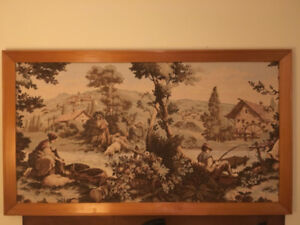 MINT* ORIGINAL IMPORTED TAPESTRY ITALY  3+ SCENES $75