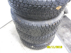 195/60r15 winter tires toyo GO 2 with 4X100 rims