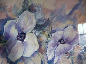 "Floral, Still Life, Original Watercolor by Gina Boyle ""Poppies"" Stratford Kitchener Area image 10"