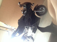 Black and Gold 50cc Super Pocket Bike