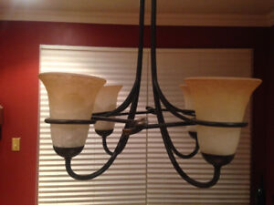 Contemporary 4-Arm Hanging Light Fixture