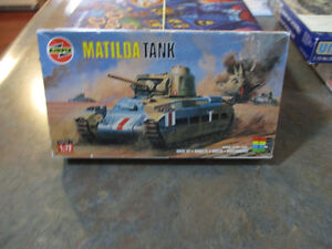 AIRFIX--- WWII-- Matilda Tank Model Kit---Made in France