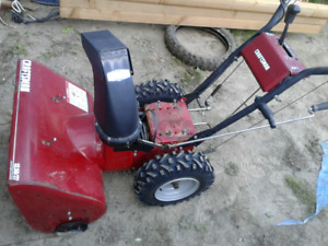"*GOOD 27"" CRAFTSMAN SNOWBLOWER CHASSIS+WHEELS  / (*""NO ENGINE""*)"