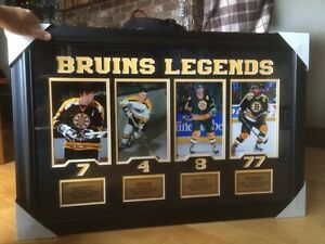 Boston Bruins Hockey Legends Framed Print - NEW PRICE