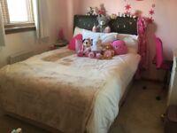 Double bed divan and headboard