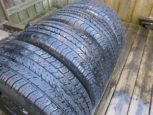 205/65R15 Michelins. 4 winter and 4 summer on steel rims w caps.