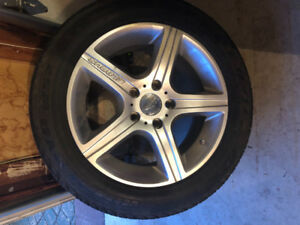 4 Snow tires on rims, from 2008 Acura TL. 215/55R1697TLX