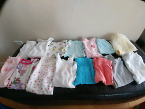 0-12months girl clothes and stroller