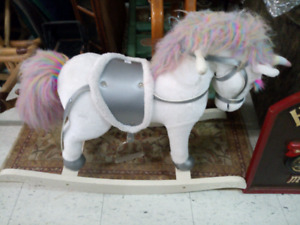 Kids White Rocking Horse