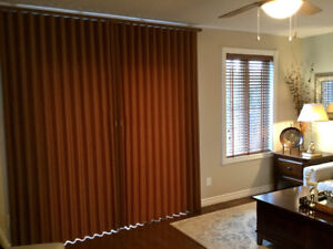 Hunter Douglas Soft Verticle Blinds for 6 ft patio doors