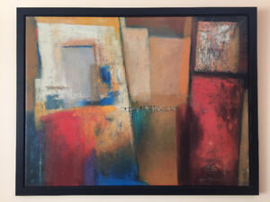 CB2 - Abstract Colours Wall Canvas Modern Art (MOVING SALE!)