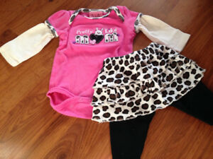 0-3 months baby girl 2pc.