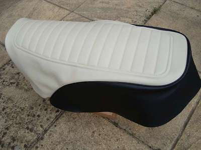 MOTORCYCLE SEAT COVER   <em>YAMAHA</em> RXS100 IN BLACK AND BEIGE