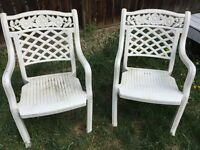 $1 each for patio chairs.