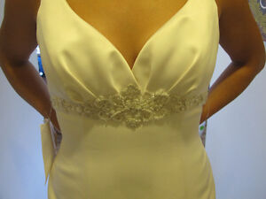 NEVER WORN Size 14(fits12) Satin Champagne Wedding Gown