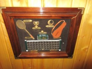 XMAS GIFT NEW FRAMED TENNIS DISPLAY WAS $75 now $35  inTrail