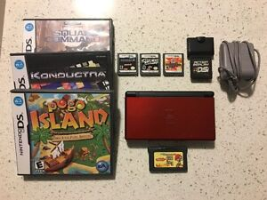Nintendo DS Lite bundle with charger & 7 games - great condition