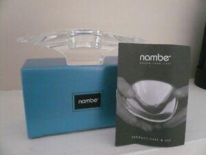 """""""Elegant Nambe Crystal"""" Candle Holder"""