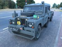 Land Rover series 3 & trailer tax-exempt, army gear, show landy.