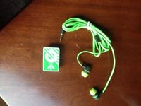 Adidas MP3 player and adidas earphones set