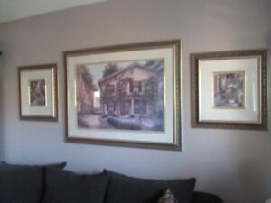 LARGE FRAMED PICTURES BY  FAMOUS ARTISTS