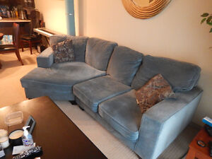 Blue-Gray Sectional Sofa