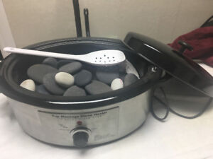 Hot stone massage warmer with stones