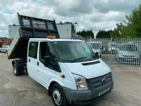 2014 FORD TRANSIT CREW D/CAB 125PS ONE STOP DROPSIDE TIPPER TOOL STORAGE!