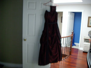 BURGANDY LONG DRESS