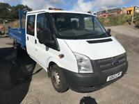 FORD TRANSIT 350 double cab tipper 2012 12 45000 excellent condition