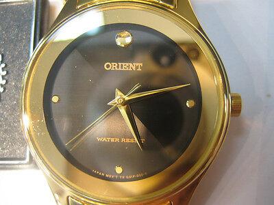 ORIENT MEN'S WATCH QUARTZ SS GOLD NEW