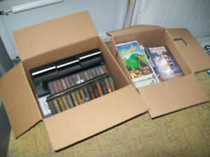 cassettes/vhs movies