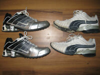 Men`s Nike and Puma Shoes