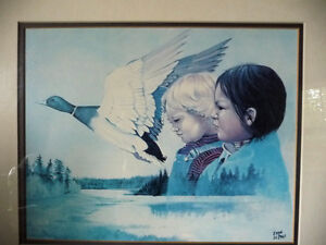 """Metis Wilderness Lithograph by Eddie Le Page """"Blood Brothers"""" Stratford Kitchener Area image 2"""