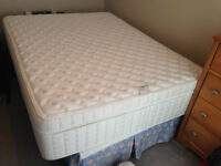 Used Serta Pillow Top Queen Mattress and Boxspring