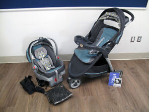 Graco ClickConnect travel system (stroller & carseat) Grey/Teal