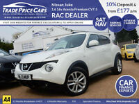 GUARANTEED CAR FINANCE Nissan Juke 1.6 16v Acenta Premium CVT White