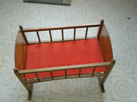 Doll baby cradle