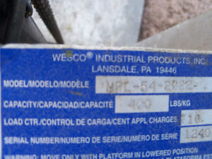 Chariot Hydraulique Wesco MPL-54-2022 Saguenay Saguenay-Lac-Saint-Jean image 3