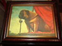 "2 Dog Pictures from the Bombay Co., both are 14""x11"","