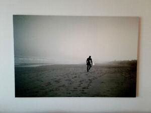 Cadre de surf (toile Ikea) noir et blanc - Rare sur le marché