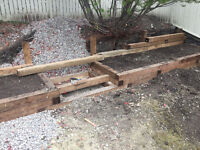 "Wood Retaining Walls, 6x6 treated lumber""Quality Constuction"""