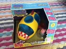 Peppa pig weebles rocking rocket - still in box