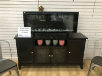 Electric fireplace at Waterloo Restore